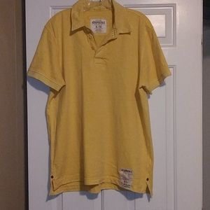 Aeropostale yellow polo/collard shirt